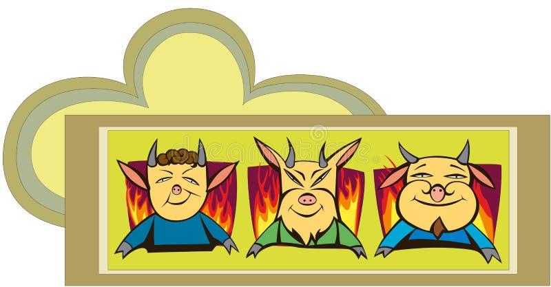 Three Small Devils Stock Photos