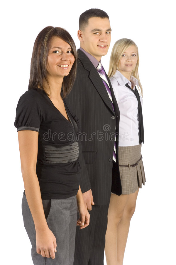 Three Smiling Business People royalty free stock image