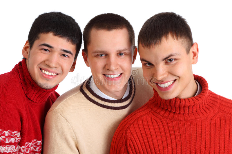 Download Three smiling friends stock image. Image of stylish, team - 9290437