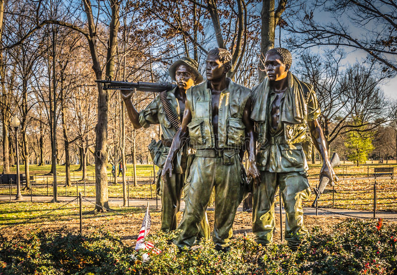 Three Soldiers Statue - Washington DC royalty free stock photo