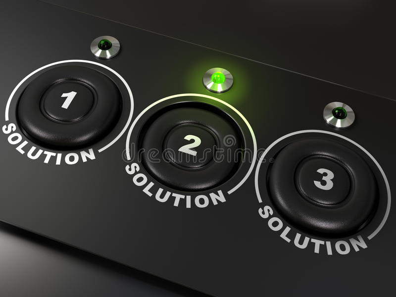 Download Three Solutions Stock Photo - Image: 18899790