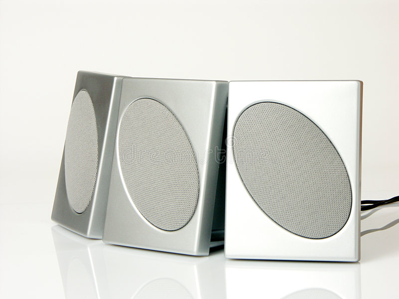 Download Three speakers stock photo. Image of surround, loud, listen - 149794