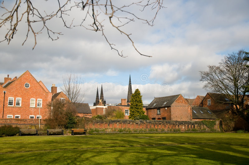 Download Three spires of lichfield stock photo. Image of tower - 8290502