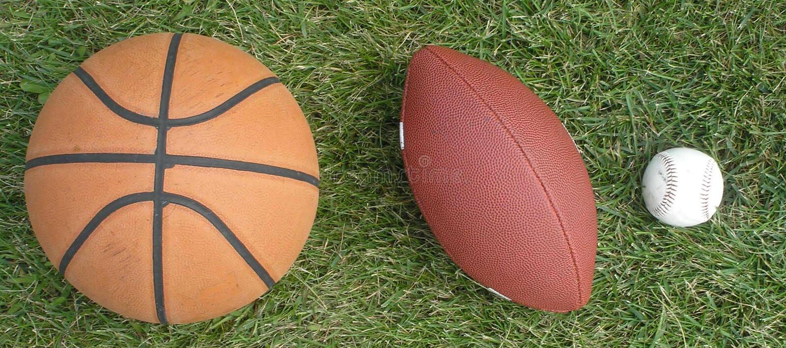 Download Three Sports stock photo. Image of green, leather, tres - 217134