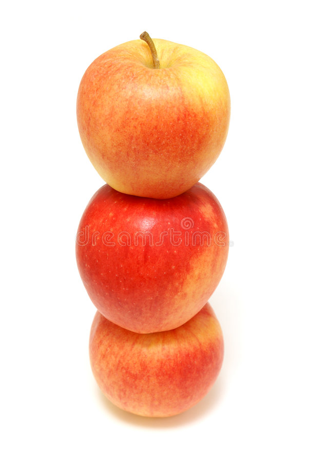 Free Three Stacked Apples Stock Image - 8013881