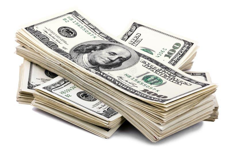 100 US$ Bills Stack Stock Photo