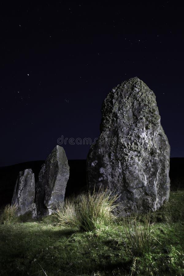 Three standing stones stock photos