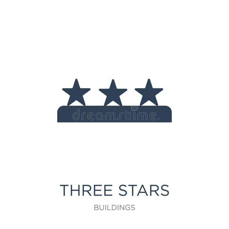 three stars icon in trendy design style. three stars icon isolated on white background. three stars vector icon simple and modern royalty free illustration