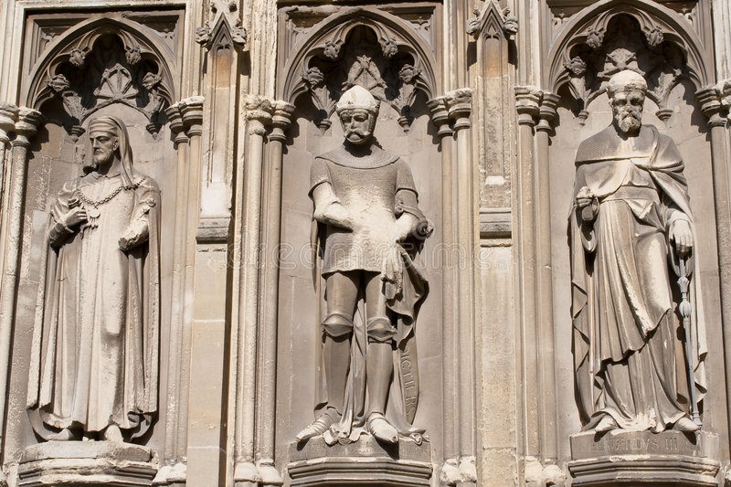 Download Three Statues In The Canterbury Cathedral Stock Image - Image: 8430275