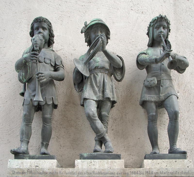 Three Statues In Munich Royalty Free Stock Photography