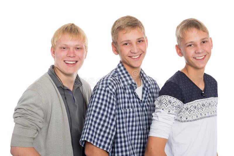 Three steep friends stock photo