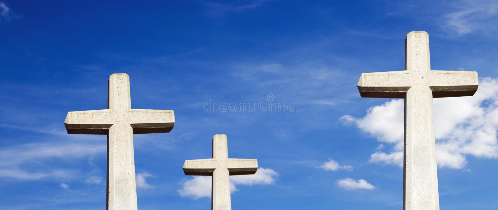 Three stone crosses royalty free stock image
