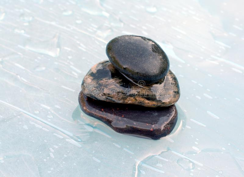 Three stone in water royalty free stock images