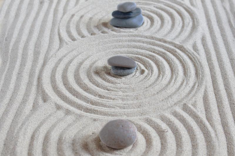 Three stones royalty free stock image