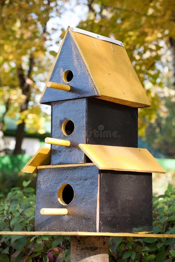 Three-storeyed Birdhouse Stock Photography