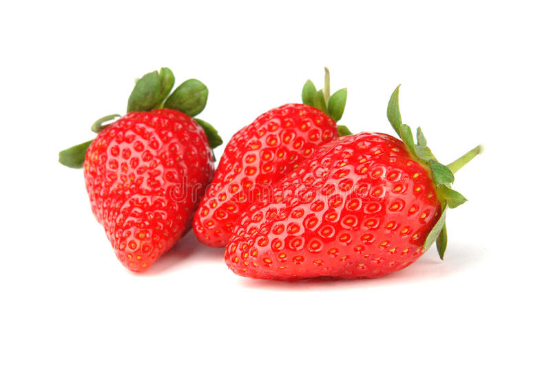 Download Three strawberry isolated stock image. Image of fruitage - 13378897