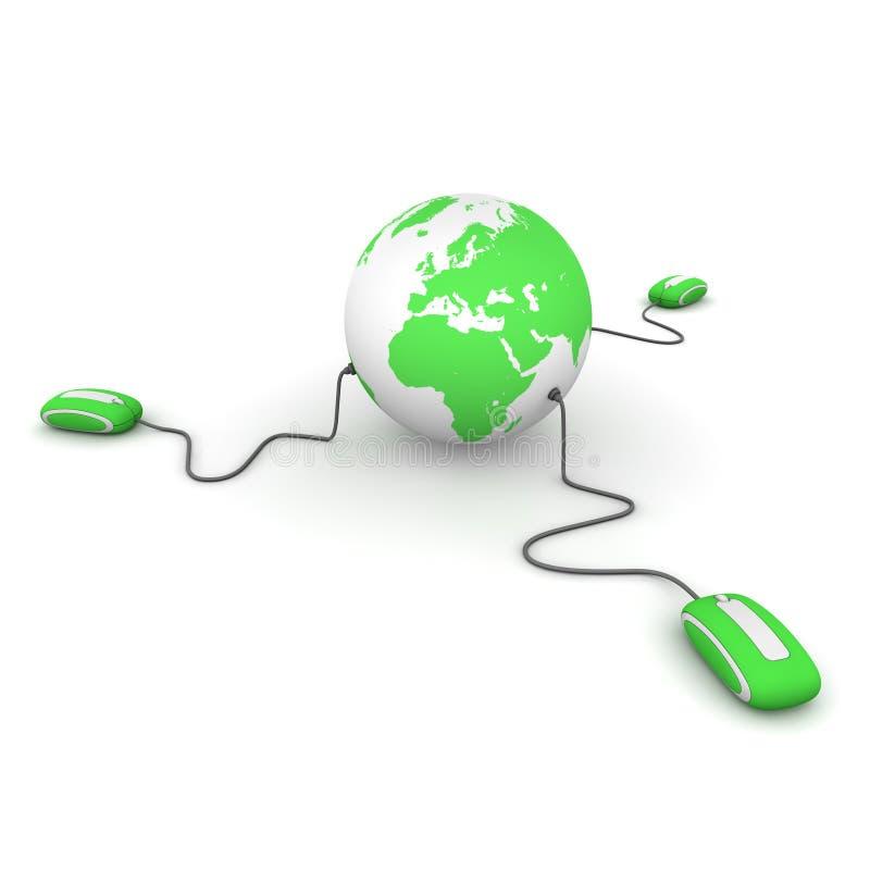 Three Surf the World - Green stock illustration
