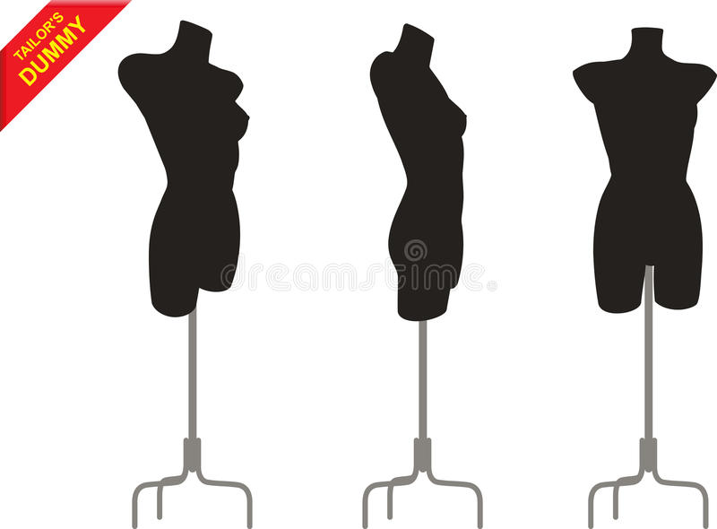 Three tailor dummy royalty free illustration