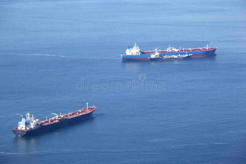Three tankers royalty free stock image