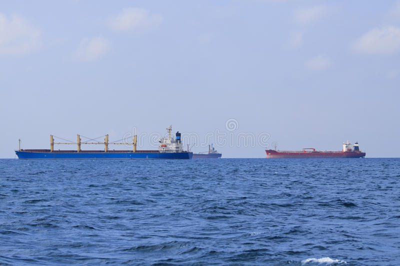 Download Three tankers in black sea stock image. Image of ship - 11408169
