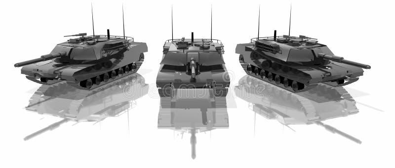 Three tanks stock images