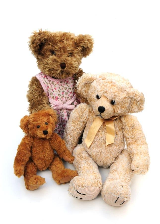 Three teddies royalty free stock images