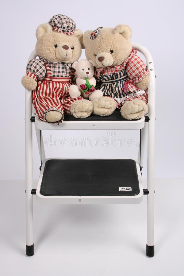Three teddy bears royalty free stock photos