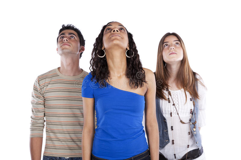 Three teenagers friends royalty free stock image
