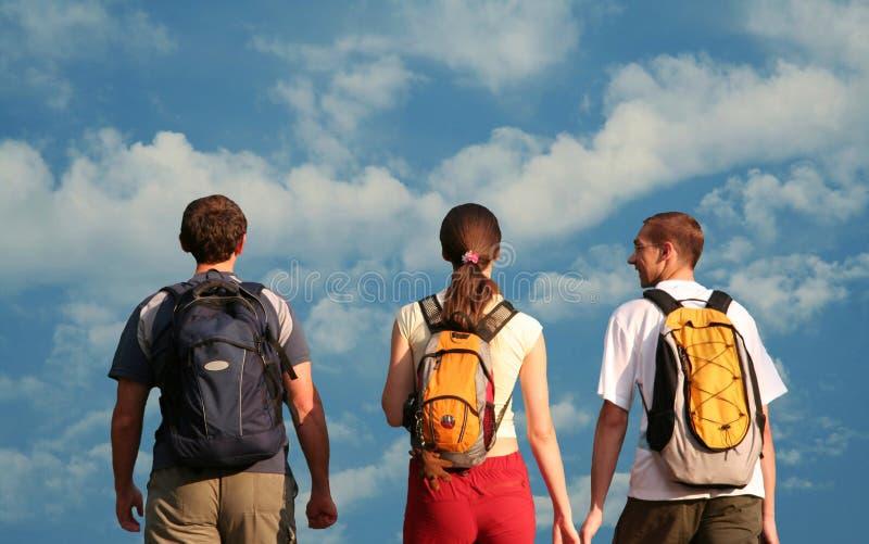 Three teens royalty free stock image