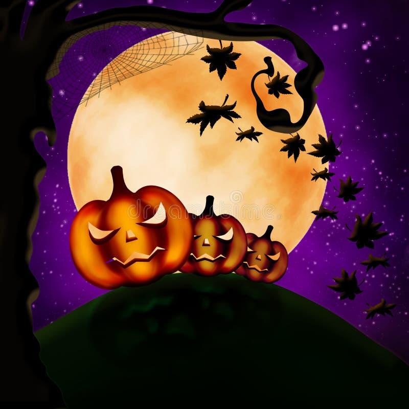 Three terrible pumpkins royalty free stock photography