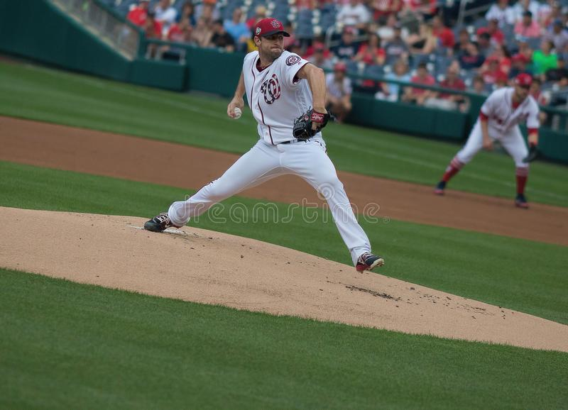 Three-Time Cy Young Award Winner, Max Scherzer royalty free stock images