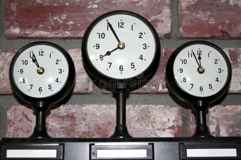 Three time zone clock stock image Image of alarm hour 1241467