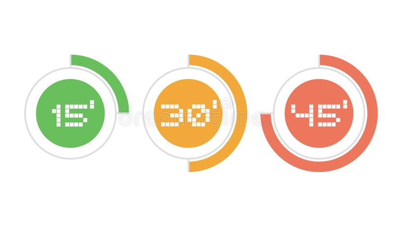 Three times icons vector illustration