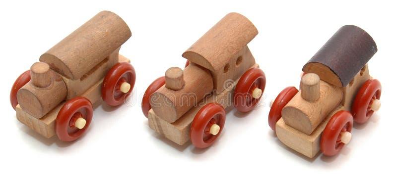 Three tiny trucks stock image