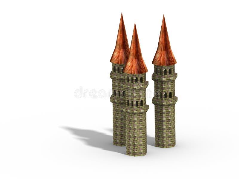 Three Towers Royalty Free Stock Photo
