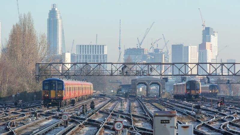 Rail Transport in London, UK. stock photography