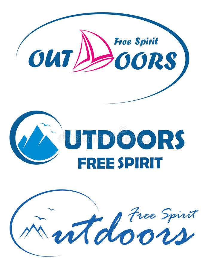 Three travel logos - free spirit outdoors