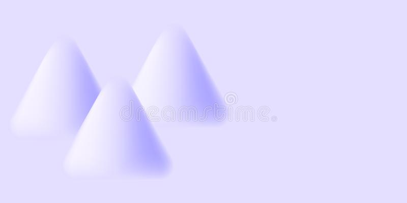 Three triangular shapes texture blurred. Frosty freshness.Snow cover royalty free illustration
