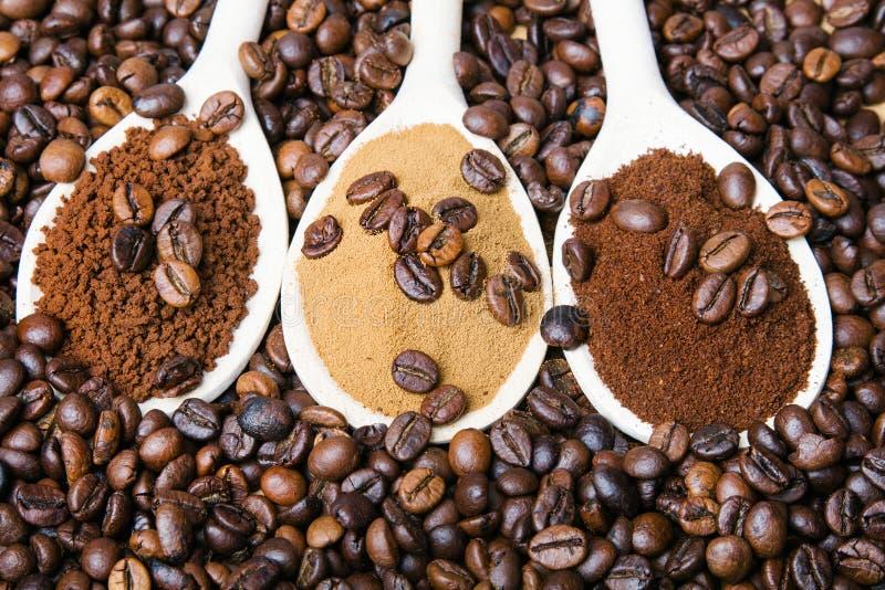 Three types of coffe royalty free stock photos
