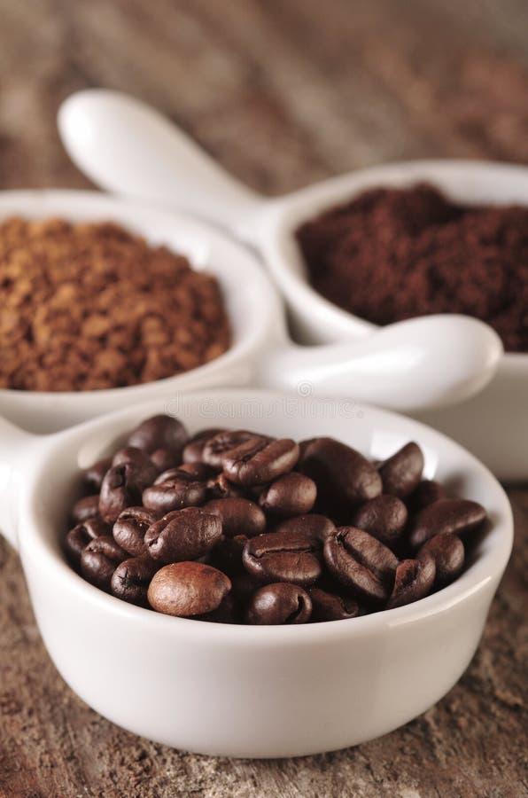 Download Three types of coffee stock photo. Image of espresso - 24260852