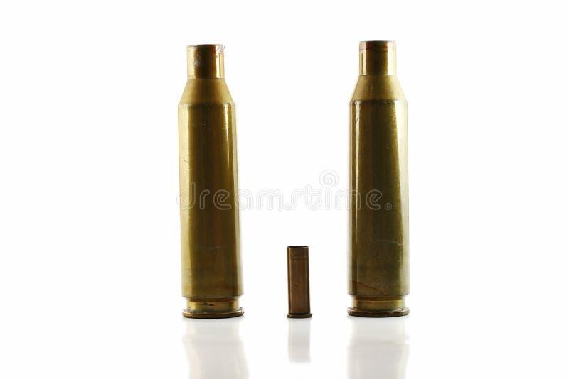 Three used bullet casings