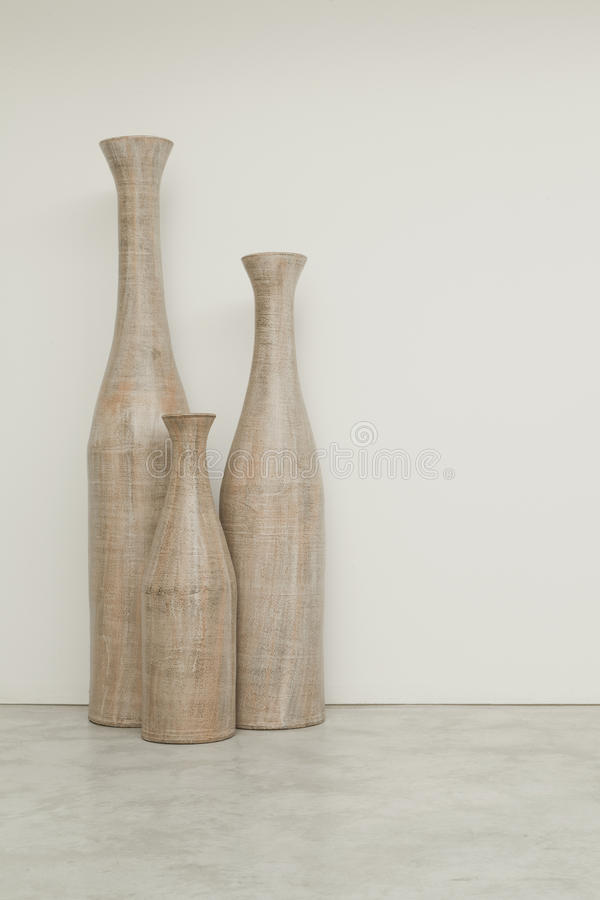 Three vases royalty free stock photo