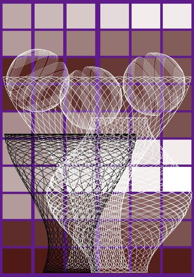 Three vases royalty free illustration