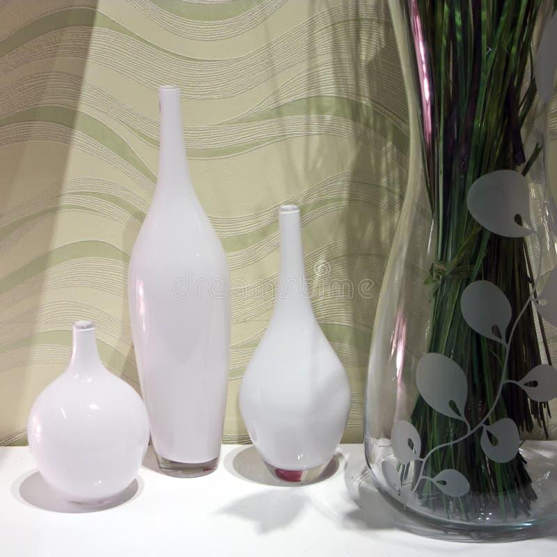 Download Three vases stock image. Image of detail, shelf, decorative - 7945131