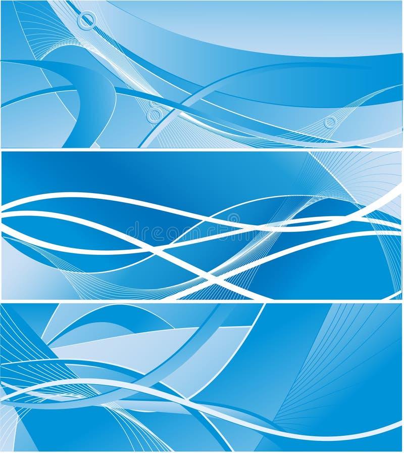 Download Three Vector Backdrops Royalty Free Stock Photos - Image: 6436138