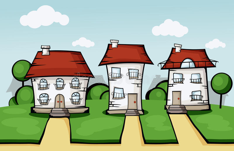 Three Vector House Stock Image