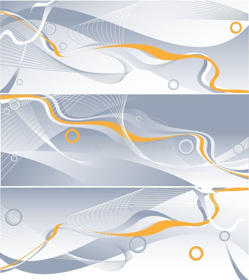 Download Three Vector Wavy Backdrops Stock Vector - Image: 6708848