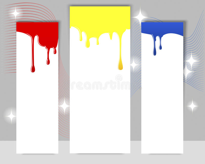 Download Three Vertical Banners With Dripping Paint. Stock Vector - Image: 26217184