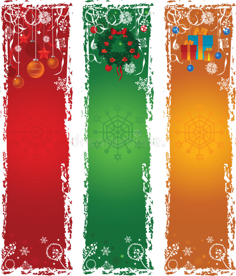 Download Three Vertical Christmas Banners Stock Vector - Image: 21565243