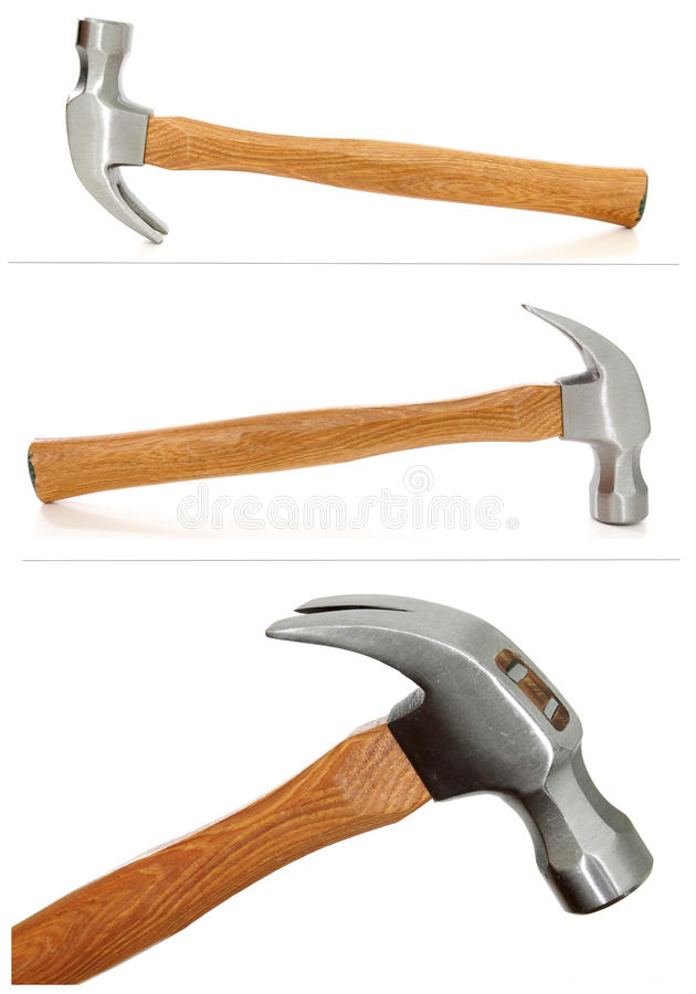 Download Three views Claw Hammer stock image. Image of steel, tools - 17525719